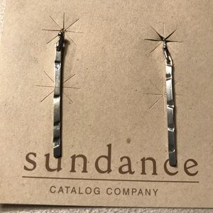 Silver Matchstick Wire Earrings